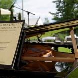 Romantisch: Klavierbegleitung bei der Trauung im Garten des Schloss Maria Loretto