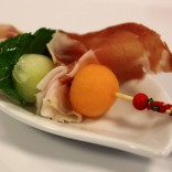 Italienische Köstlichkeiten - Prosciutto mit Melonen