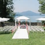 Der Blick von der Terrasse - Standesamtliche Hochzeit im Garten des Schloss Maria Loretto