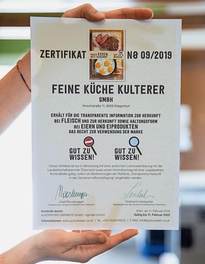 Zertifikat-Gut-zu-Wissen-Feine-Kueche-Kulterer